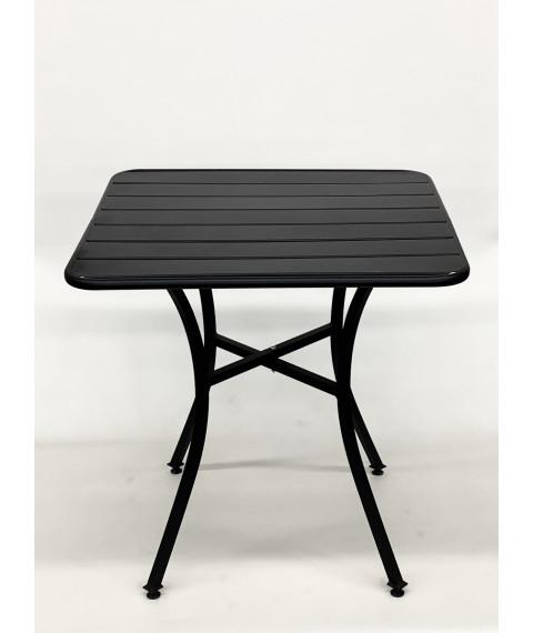 "T72 patio table black 28""x28"""