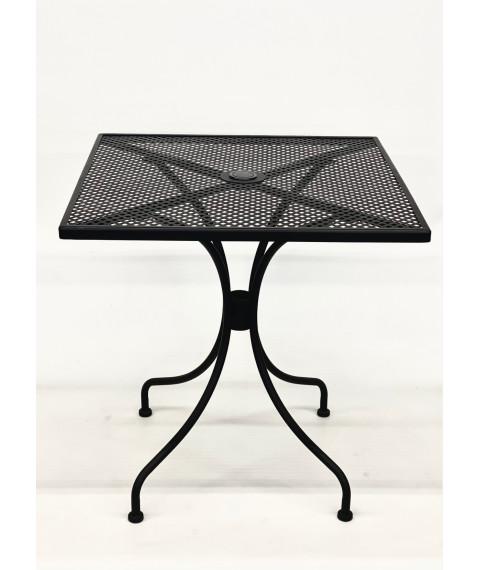 "T74 patio table black 28""x28"""