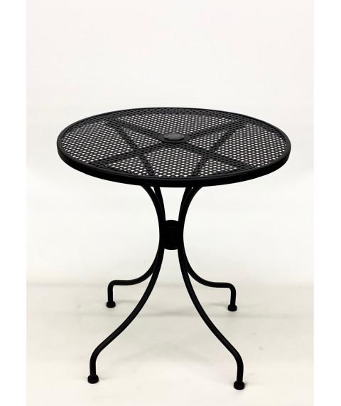 "T74 patio table black 28""R"